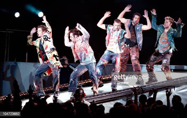 *NSYNC during *NSYNC Popodyssey Concert in Oakland at Network Associates Coliseum in Oakland California United States