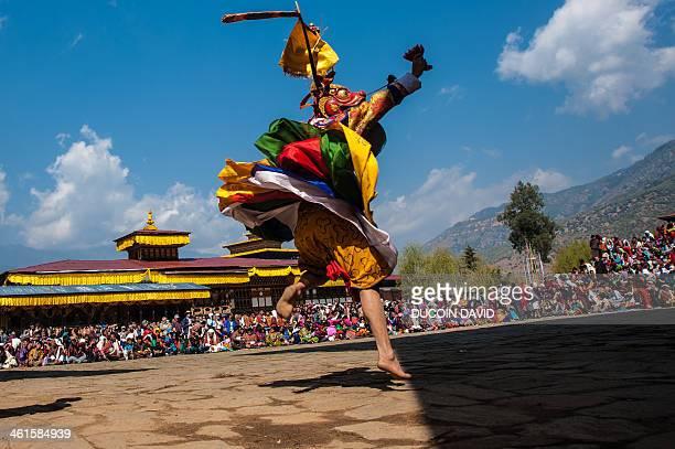during paro tsechu festival, bhutan - paro stock photos and pictures