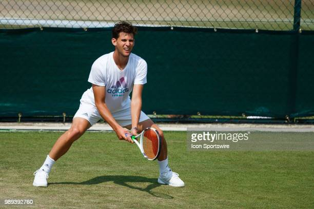 during practice day for the 2018 Wimbledon on July 1 at All England Lawn Tennis and Croquet Club in London England