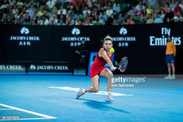 during practice on day thirteen of the 2018 Australian Open on January 27 2018 at Melbourne Park Tennis Centre Melbourne Australia