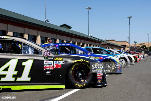 during preparation for qualifying for the Monster Energy NASCAR Cup held at Sonoma Raceway on June 2325 2017