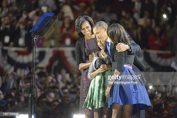 During President Barack Obama's ElectionNight rally at the McCormick Place convention center on November 6 2012 in Chicago Illinois