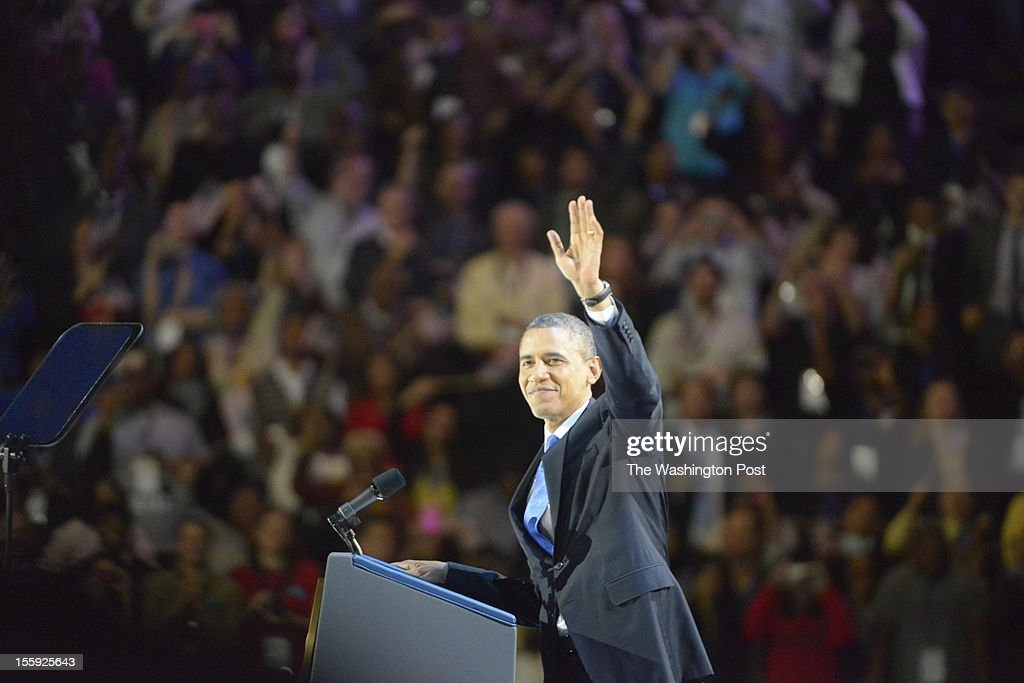 President Barack  Obama's Election-Night rally at the McCormick Place convention center in Chicago, Il : News Photo