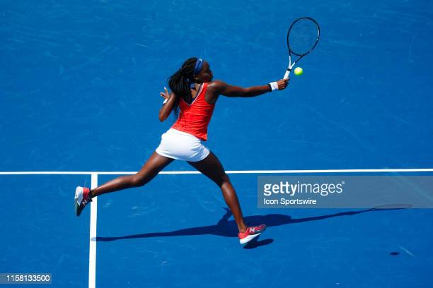 During qualifying match of the 2019 Citi Open on July 27,2019 at Rock Creek Park Tennis Center in Washington D.C.