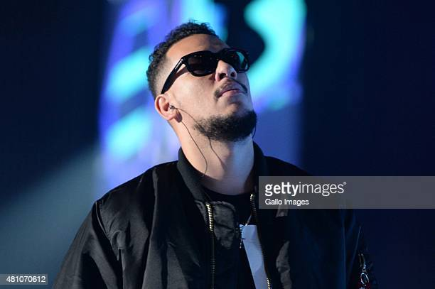 AKA during rehearsals ahead of the MTV Africa Music Awards on July 18 2015 at the Durban International Convention Centre in Durban South Africa This...