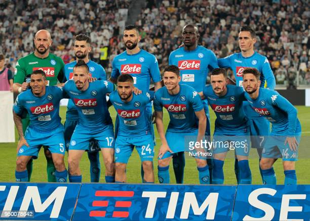 during serie A match between Juventus v Napoli in Turin on April 22 2018
