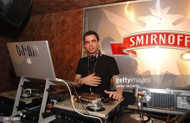 DJ AM during Smirnoff Vodka Casino Royal and DJ AM Host Shaken and Stirred DJ Contest at Tenjune in New York City New York United States