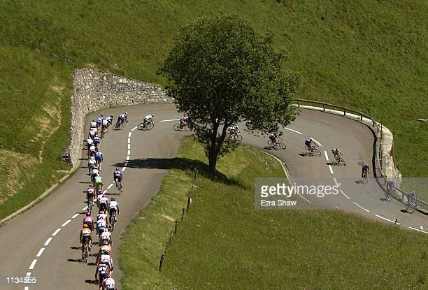 during stage 12 of the 2002 Tour De France on July 19 from Lannemezan to Plateau de Beille France