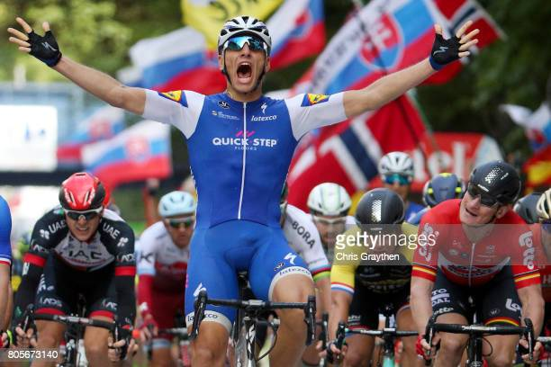 during stage two of the 2017 Le Tour de France a 2035km stage from Dusseldorf to Liege on July 2 2017 in Liege Belgium