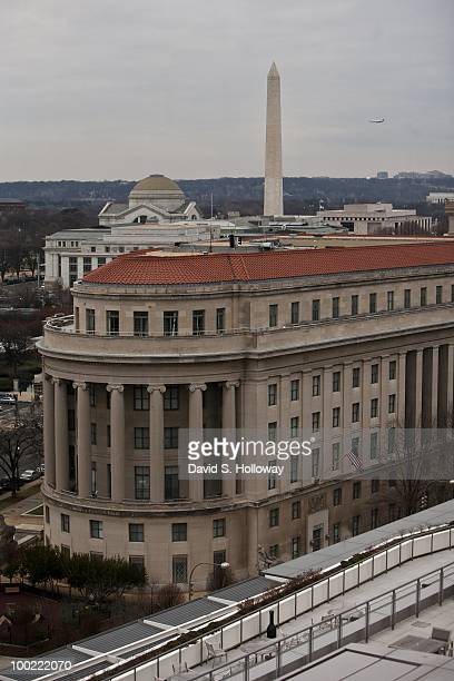 During taping of 'State of the Union' the Washington Monument the National Archive and the Smithsonian Natural History Museum are all visable from...
