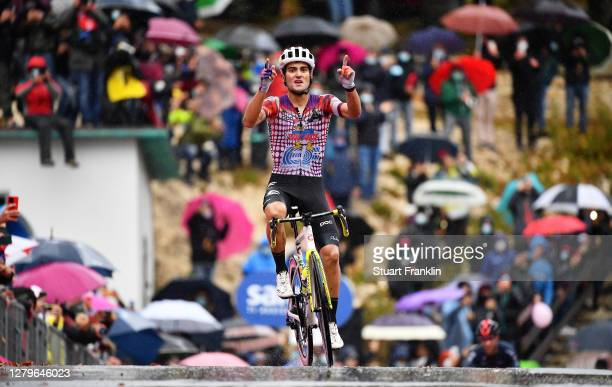 During the 103rd Giro d'Italia 2020, Stage 9 a 207km stage from San Salvo to Roccaraso - Aremogna 1658m / @girodiitalia / #Giro / on October 11, 2020...