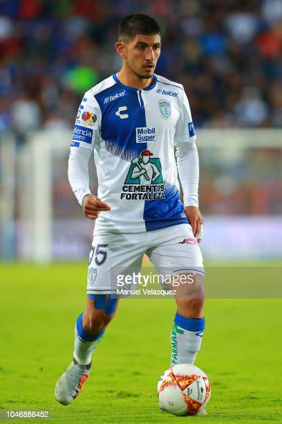 during the 11th round match between Pachuca and Cruz Azul as part of the Torneo Apertura 2018 Liga MX at Hidalgo Stadium on September 29 2018 in...