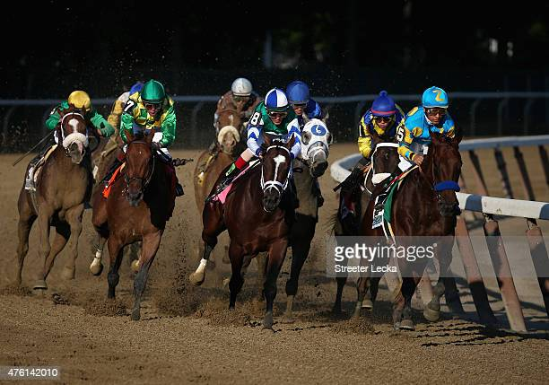 during the 147th running of the Belmont Stakes at Belmont Park on June 6 2015 in Elmont New York