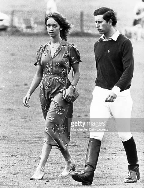 During the 1970s Prince Charles was an eligible bachelor romantically linked to a series of young women He is seen here at a sporting event possibly...