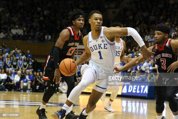 during the 1st half of the Duke Blue Devils game versus the StFrancis on December 05 at Cameron Indoor Stadium in Durham NC