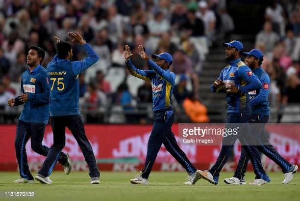 **** during the 1st KFC T20 International match between South Africa and Sri Lanka at PPC Newlands on March 19 2019 in Cape Town South Africa