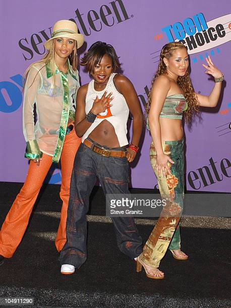 3LW during The 2001 Teen Choice Awards Press Room at Universal Amphitheater in Universal City California United States