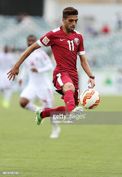 during the 2015 Asian Cup match between the United Arab Emirates and Qatar at Canberra Stadium on January 11 2015 in Canberra Australia