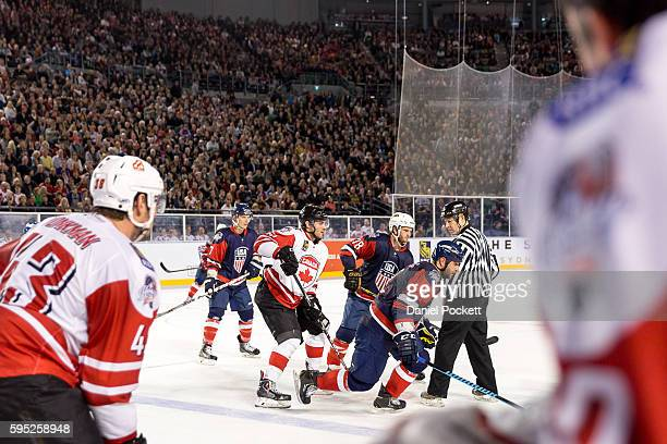 During the 2015 Ice Hockey Classic match between the United States of America and Canada at Rod Laver Arena on June 5 2015 in Melbourne Australia