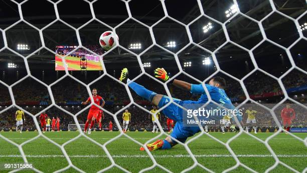 during the 2018 FIFA World Cup Russia Round of 16 match between Colombia and England at Spartak Stadium on July 3 2018 in Moscow Russia