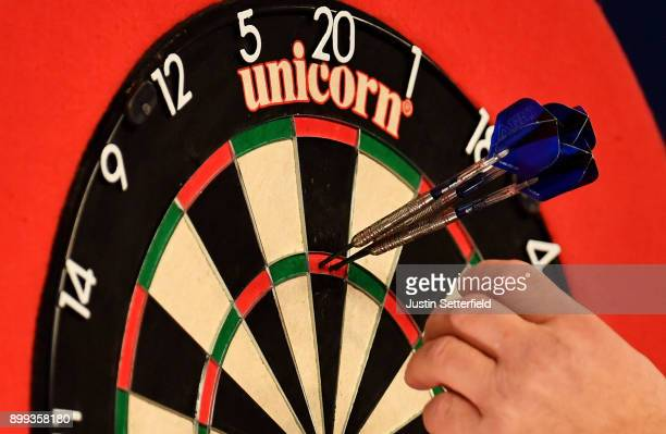 A 180 during the 2018 William Hill PDC World Darts Championships on Day Twelve at Alexandra Palace on December 28 2017 in London England