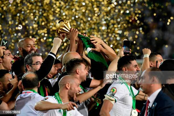 During the 2019 Africa Cup of Nations Final football match between Senegal and Algeria at the Cairo International Stadium in Cairo on July 19, 2019.