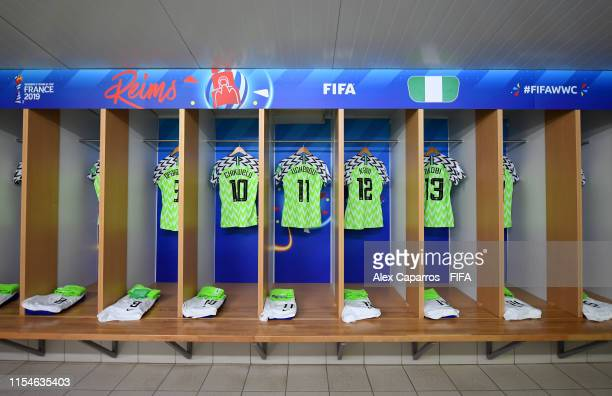 during the 2019 FIFA Women's World Cup France group A match between Norway and Nigeria at Stade Auguste Delaune on June 08 2019 in Reims France