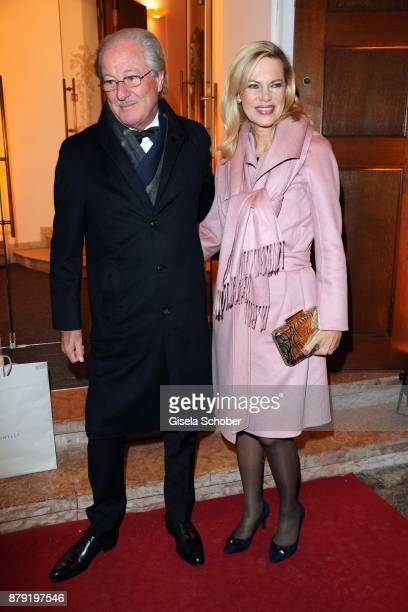 during the 80th birthday party of Roland Berger at Cuvillies Theatre on November 25 2017 in Munich Germany