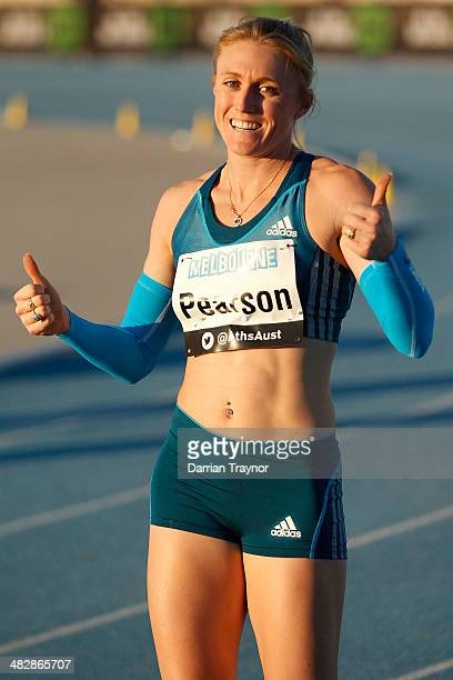 during the 92nd Australian Athletics Championships at Olympic Park on April 3 2014 in Melbourne Australia