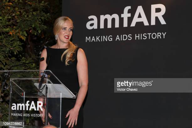 during the amfAR gala dinner at the house of collector and museum patron Eugenio López on February 5 2019 in Mexico City Mexico