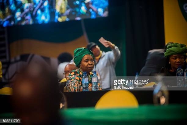 XXXX during the announcement of new party leadership at the 5th African National Congress national conference at the Nasrec Expo Centre on December...