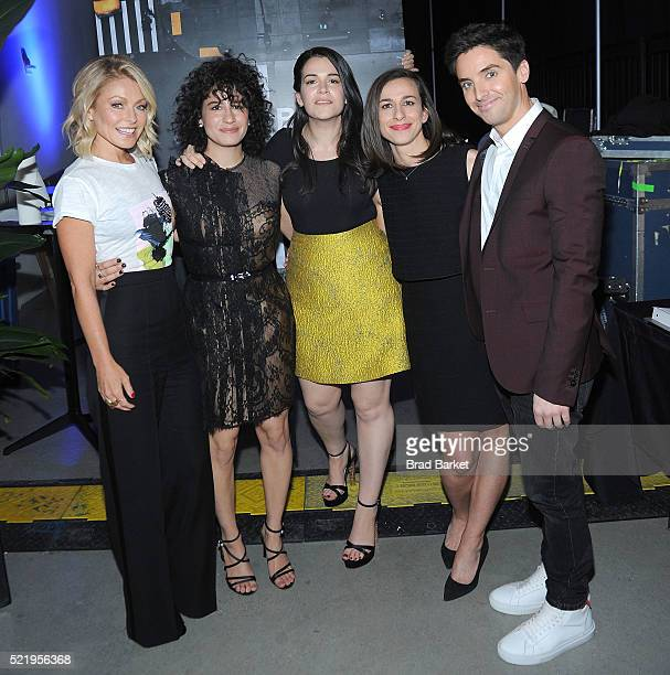 During the APRIL 17: Actor Kelly Ripa, Ilana Glazer, Abbi Jacobson, Lucia Aniello and Paul W. Downs attend the Tribeca Tune In: Broad City during the...