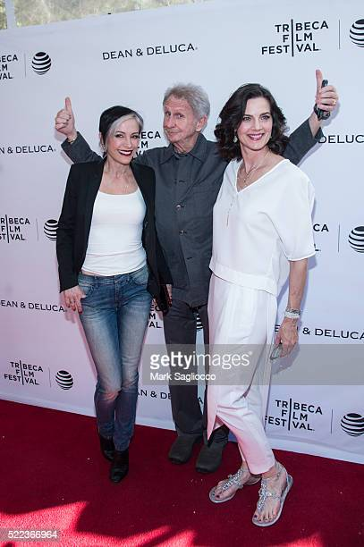 Actors Nana Visitor Rene Auberjonois and Terry Farrell attend the Tribeca Tune In 'For The Love Of Spock' during the 2016 Tribeca Film Festival at...