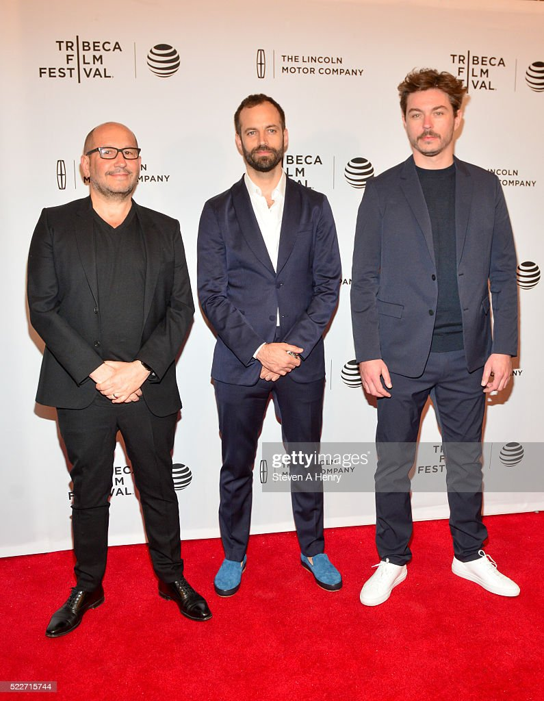 Director Thierry De Maiziere, Benjamin Millepied and Alban Teurlai attend the 'Reset' premiere during the 2016 Tribeca Film Festival at SVA Theatre on April 20, 2016 in New York City.