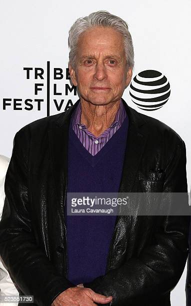 Michael Douglas attends Tribeca Talks What We Talk About When We Talk About The Bomb during the 2016 Tribeca Film Festival at SVA Theatre 2 on April...