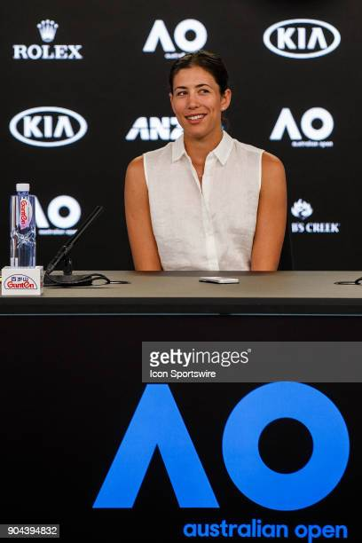 during the Australian Open 2018 player press conference on January 13 2018 leading up to the 2018 Australian Open at Melbourne Park Tennis Centre...