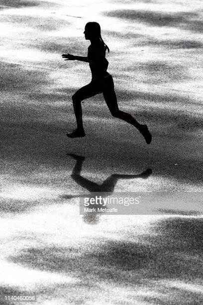 during the Australian Track and Field Championships at Sydney Olympic Park Athletic Centre on April 04 2019 in Sydney Australia