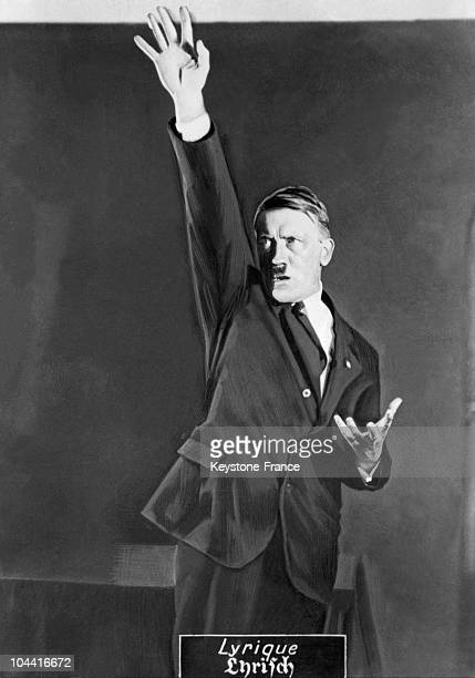 During the autumn of 1925 in Munich Heinrich HOFFMANN Adolf HITLER's personal photographer took a series of pictures of the Fuhrer miming one of his...