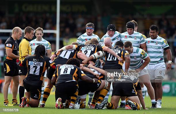During the Aviva Premiership match between London Wasps and London Irish at Adams Park on September 15, 2012 in High Wycombe, England.