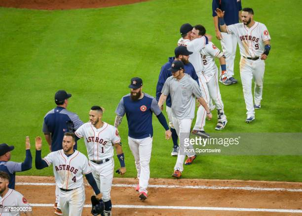 during the baseball game between the Tampa Bay Rays and Houston Astros on June 18 2018 at Minute Maid Park in Houston Texas