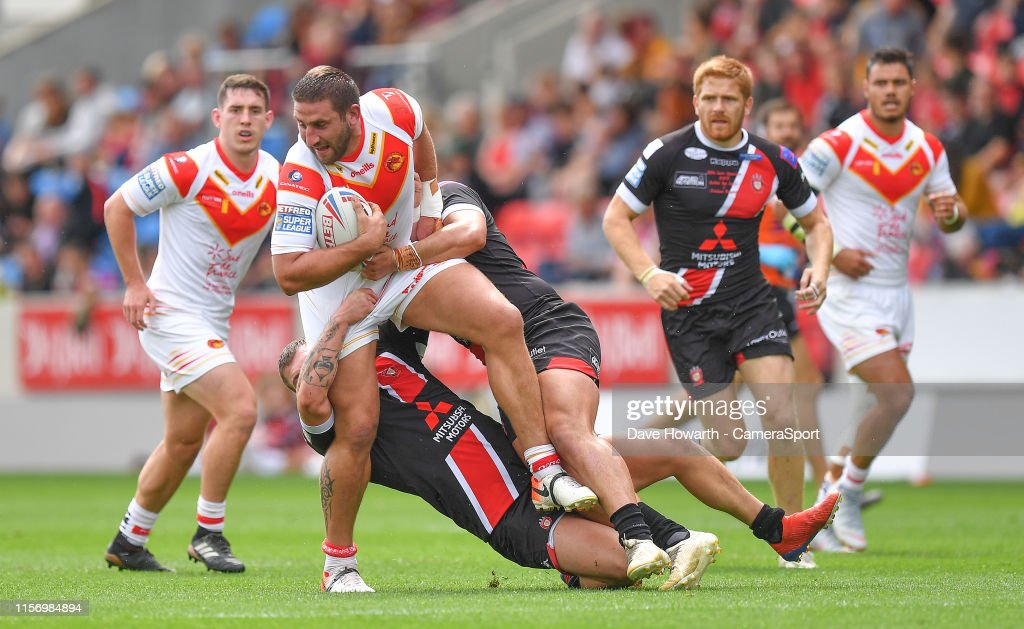 Salford Red Devils v Catalans Dragons - Betfred Super League : News Photo