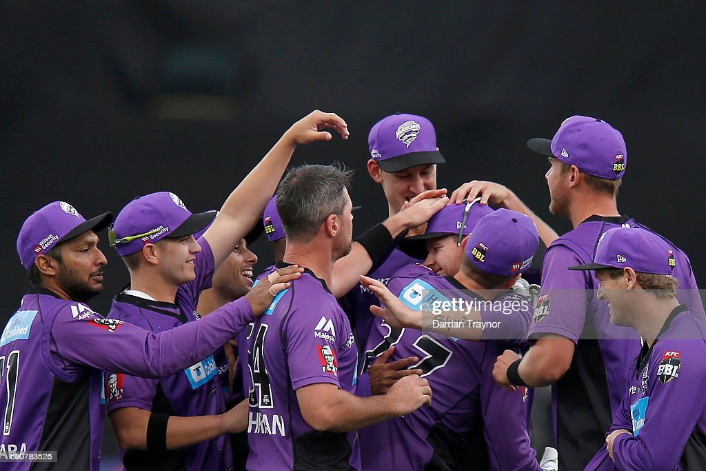 during the Big Bash League match between the Hobart Hurricanes and Adelaide Strikers at Blundstone Arena on January 2, 2017 in Hobart, Australia.