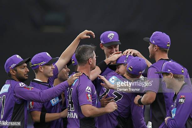 during the Big Bash League match between the Hobart Hurricanes and Adelaide Strikers at Blundstone Arena on January 2 2017 in Hobart Australia