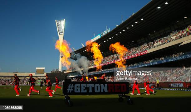 During the Big Bash League match between the Melbourne Renegades and the Adelaide Strikers at GMHBA Stadium on January 03, 2019 in Geelong, Australia.
