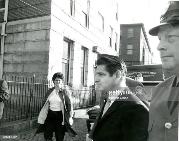 During the Boston Strangler trial Jan 16 suspect Albert DeSalvo enters East Cambridge court