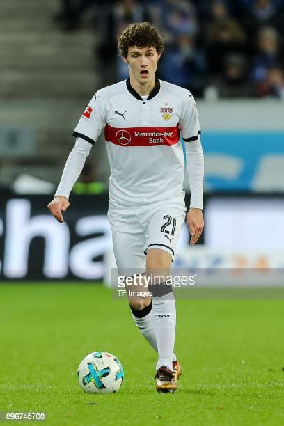 during the Bundesliga match between TSG 1899 Hoffenheim and VfB Stuttgart at Wirsol RheinNeckarArena on December 13 2017 in Sinsheim Germany