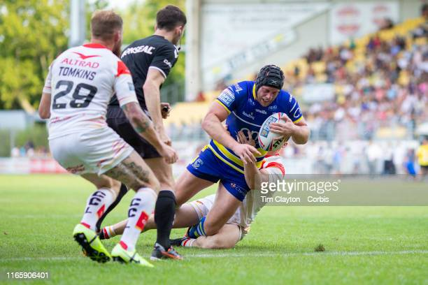 during the Catalans Dragons V Warrington Wolves Betfred Super League regular season match at Stade Gilbert Brutus on August 3rd 2019 in Perpignan...