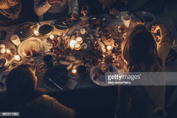during the celebration.. - evening meal stock pictures, royalty-free photos & images