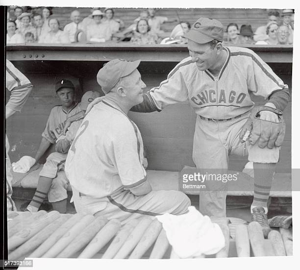 During the Chicago Cubs' series in Philadelphia Gabby Hartnett catcher and new manager of the cubs took occasion to talk things over with his most...