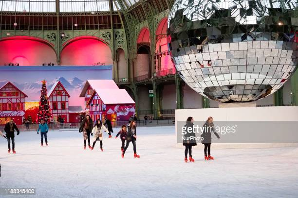 During the Christmas holidays the Grand Palais welcomes in Paris the largest ice rink indoor Ephemeral in the world on December 13 in Paris France